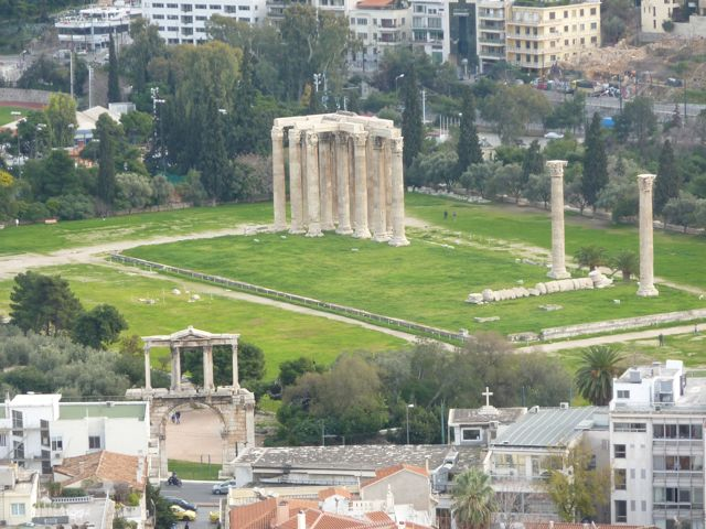 Hadrian's Arch and the Temple of Olympian Zeus