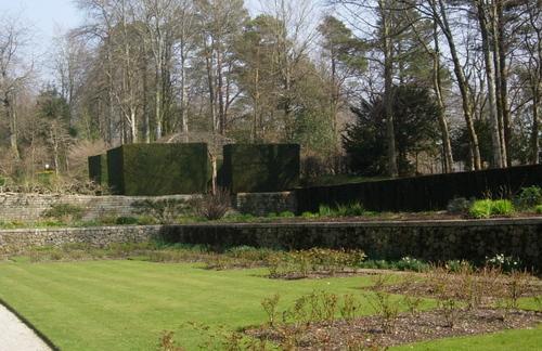 Castle Drogo formal garden