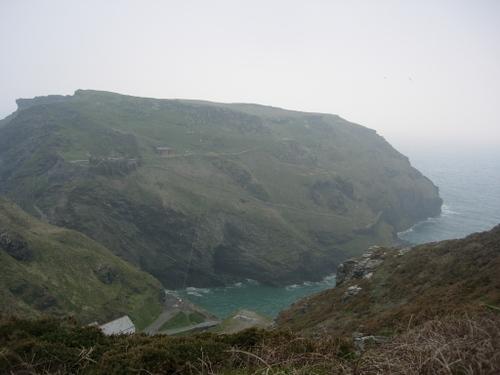 Overlooking Tintagel castle cliff