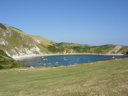 Sailboats in Lulworth Cove