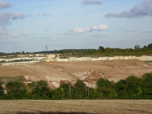 Quarry from a distance.
