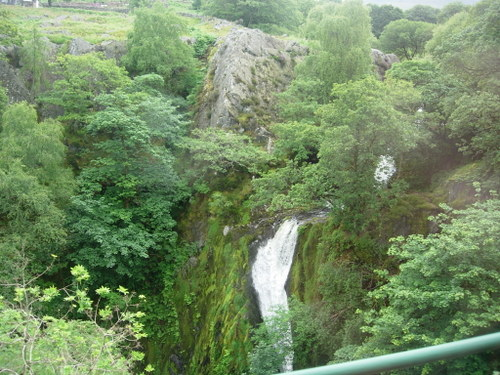 Waterfall near Snowdon