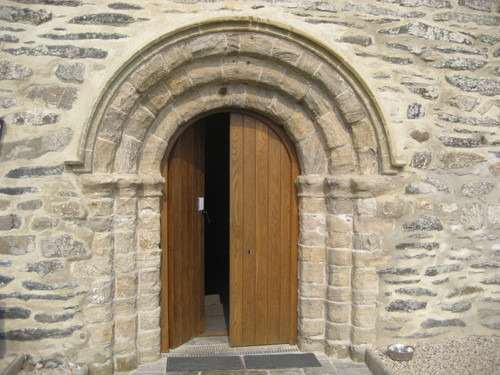 Norman doorway at Aberdaron & North Wales: Norman doorway at Aberdaron