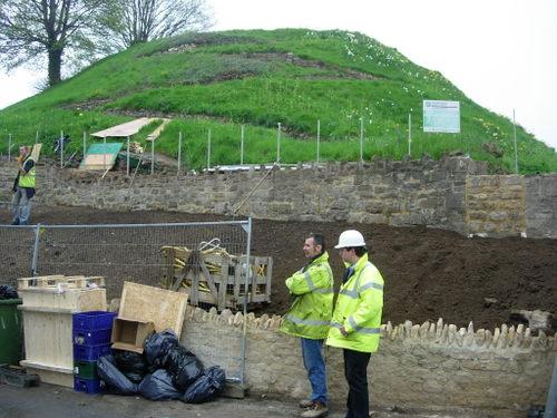 Oxford Castle, under construction