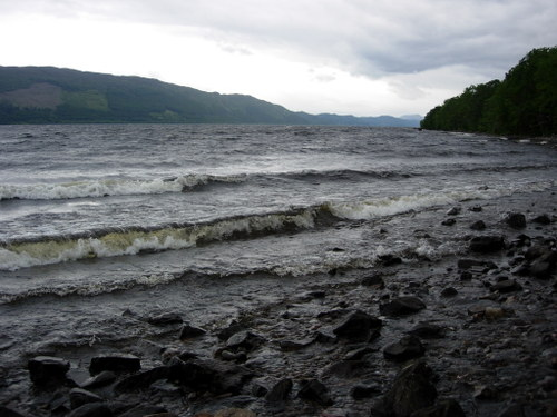Waves at the shore of Loch Ness