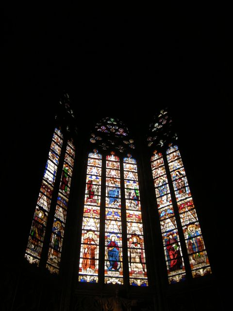 Stained glass in St Etienne